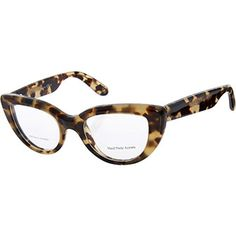 Bottega Veneta Tortoise Shell Cat Eye Optical Frames