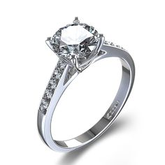 diamond engagement rings  | ctw Classic Diamond Engagement Ring in 14k White Gold