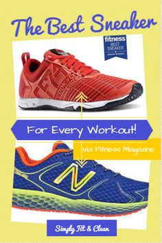 The Best Sneaker for Every Workout via Fitness Magazine | Simply Fit & Clean