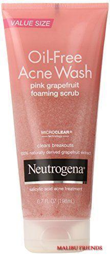 Neutrogena Oil Free Acne Wash Scrub Pink Grapefruit Save On Combined Ship #Neutrogena