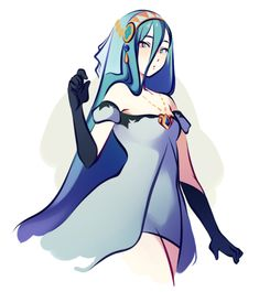 azura in agnes's vestal dress :3ꇤ