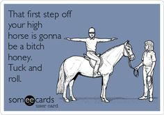 That first step off your high horse is gonna be a bitch honey. Tuck and roll.