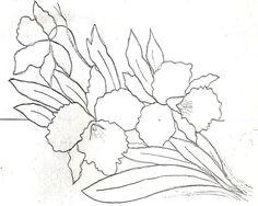 Orquidea para dibujar - Imagui