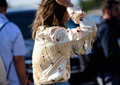 Ganni street style   Aimee Song   Donnelly satin shirt
