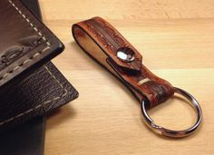 LEATHER KEYCHAIN WITH CHARM - Google Search