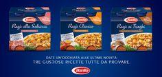 Il Nuovo Ragù Barilla è disponibile in tre versioni: alla Salsiccia, Classico e ai Funghi!