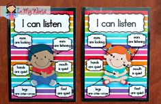 Sunday School Rules FREE Whole Body Listening Posters