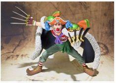 Figura One Piece. Buggy el payaso, 16 cms Figura de 16 cms de Buggy el payaso, capitán pirata de una tripulación un tanto peculiar de circenses en el manga y anime One Piece.