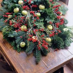 Every Christmas, my mom and I would go and gather boughs of pine, and holly from the bushes to decorate with- I still like decorations to be natural to the season.