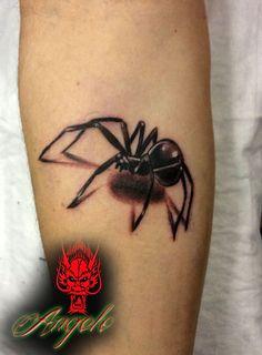 3d spider tattoo Done by Angelo @ Rising Dragon Tattoo Fourways, Johannesburg. joburgink@gmail.com, 0114677350