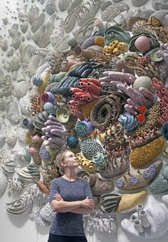 Arte Coral, Coral Art, Instalation Art, Ceramic Wall Art, Environmental Art, Marine Life, Sculpture Art, Ceramic Sculptures, Oeuvre D'art