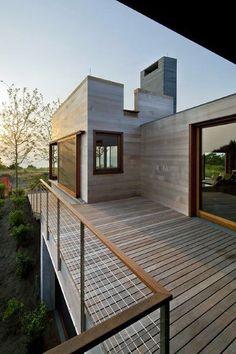 Gallery of Island House / Peter Rose + Partners - 3 - Modern Design Balcony Railing Design, Deck Railings, Deck Design, House Design, Cable Railing, Railing Ideas, Wood Railing, Deck Balustrade Ideas, Metal Spindles