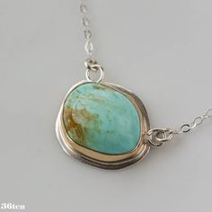 Hey, I found this really awesome Etsy listing at https://www.etsy.com/listing/180130622/turquoise-and-14k-gold-necklace