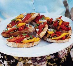 Red pepper & caper bruschetta