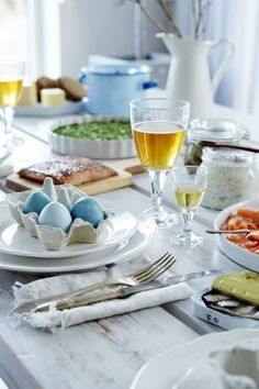 Give your guests a taste of Sweden this Easter with a traditional Easter smorgasbord, a Swedish buffet-style type of meal with multiple hot and cold dishes served on a self-serve table.