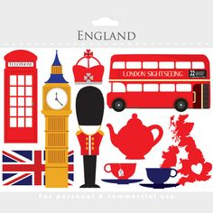 London clipart England UK clip art travel by WinchesterLambourne