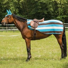 Fleece Horse Exercise Sheet Blue Sheep From Snuggy Hoods Ltd Pinterest Exercises And