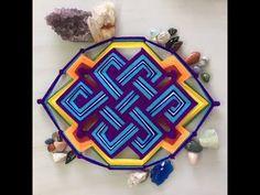 Pulseras de hilos | macrame tubular paso a paso - YouTube Gods Eye, Macrame Knots, Dreamcatchers, String Art, Projects To Try, Weaving, Embroidery, Crochet, How To Make