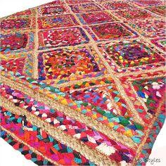 Braided RAG RUG, braided carpet rug, meditation mat, mandala rug bohemian decor, colorful area rug home decor rug floor rug area rugs Braided Rag Rugs, Hand Knotted Rugs, Jute Rug, Woven Rug, Mandala Rug, Doily Rug, Circle Rug, Modern Area Rugs, Fibre Textile