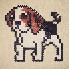 Dog hama beads by arantxa.rs