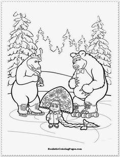 masha and the bear russian printables - Google Search