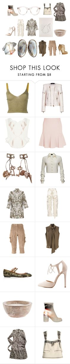 """organic light"" by buzzingbee13 ❤ liked on Polyvore featuring Kenzo, Dansk, Balmain, Agent Provocateur, Fendi, Dolce&Gabbana, Magda Butrym, Balenciaga, Pauw and Christian Dior"