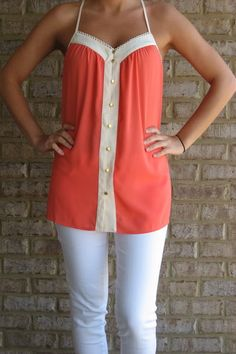 Love this top with the white jeans! @Emily Rauenhorst I will eventually take your advice and buy some!