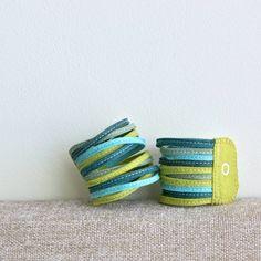Skinny Wool Felt Bracelet Wristband Cuff // by LoftFullOfGoodies, $16.00