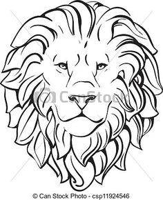 EPS Vector of head of lion vector eps - Search Clip . Dark Drawings, Animal Drawings, Lion Head Drawing, Lion Vector, Eps Vector, Horse Clip Art, Animal Stencil, Leather Tooling Patterns, Lion Tattoo Design