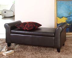 Abbyson Living Easton Leather Bedroom Storage Bench | AllModern