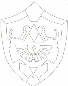 Link Shield Coloring Pages Coloring Pages Link Cosplay, Zelda Birthday, Boy Birthday, Pixel Art Objet, Shield Template, Zelda Cake, Holidays Halloween, Halloween Apples, Link Halloween