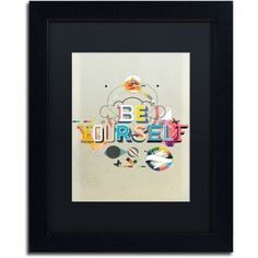 Trademark Fine Art Be Yourself Canvas Art by Kavan & Co Black Matte, Black Frame, Size: 16 x 20, Multicolor