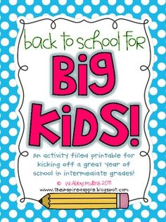 to use for the first weeks of school#Repin By:Pinterest++ for iPad#