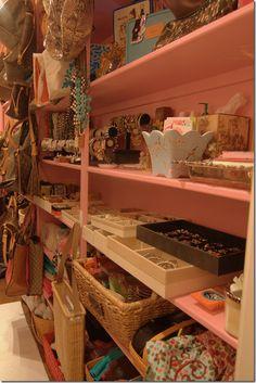 The Pink Closet ~ jewels Dressing Room Closet, Dressing Area, Closet Bedroom, Dressing Rooms, Creative Closets, Creative Storage, Storage Ideas, Interior Design Inspiration, Room Inspiration