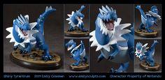 Commission : Shiny Tyrantrum by emilySculpts.deviantart.com on @deviantART