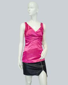 Pink Silky Club Top Size Small (SKU 000025)