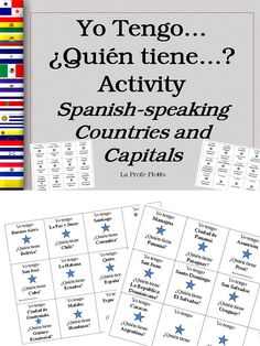 Engaging I have, Who has activity in #Spanish to get students out of their desks and learning the #Spanish-speaking #Countries and #Capitals.