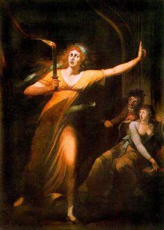 Lady Macbeth somnambule, vers 1784 Johann Heinrich Füssli Huile sur toile Musée du Louvre, Paris