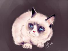 Grumpy Art #GrumpyCat #FanArt