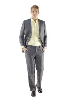 Classic Two Piece Suit in Shades of Grey by Ravis Custom Tailor