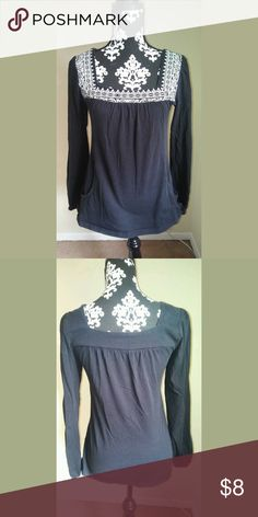 Black Aztec Top Black shirt with cute Aztec print! There are pockets near the bottom that perfectly hold your phone and chapstick!!! Size M Eyeshadow Tops Blouses