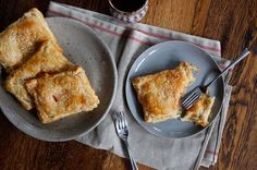 Tomato and Cream Cheese Puff Pastry Turnovers