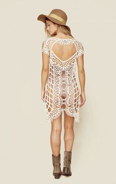 For Love And Lemons New New Clothing Bohemian Dresses Barcelona Crochet Coverup