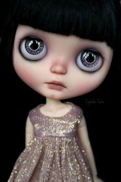 Custom OOAK Blythe ART Doll - Ink- by Cupcake Curio