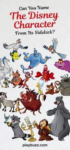 All great Disney characters have awesome sidekicks. Prove your Disney knowledge by naming the character based on its sidekick.
