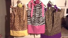 Zoo pillowcase little girls dress for bday party