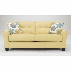 Kylee Goldenrod Sofa  Love The Color From American Furniture .