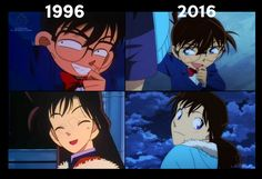1996 Conan looks even more of a pervert.>>> hahahaha (art of love god) Conan Comics, Detektif Conan, Magic Kaito, Manga Anime, Anime Art, Detective Conan Shinichi, Konan, Detective Conan Wallpapers, Kaito Kid