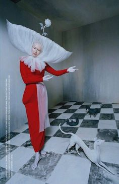 Dream team Tim Walker and Tilda Swinton for i-D Magazine Summer 2017, in homage to Leonora Carrington.    Images via MrBlueishaw.com. If anyone can find the full editorial or larger scans, please let us know!