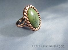 Asuntos imaxinarios Lewelry - Ring: handtwisted copper wire and serpentine